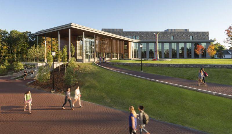 arquitectura_centros educativos perry dean_Edward S. Wolak Library _fachada