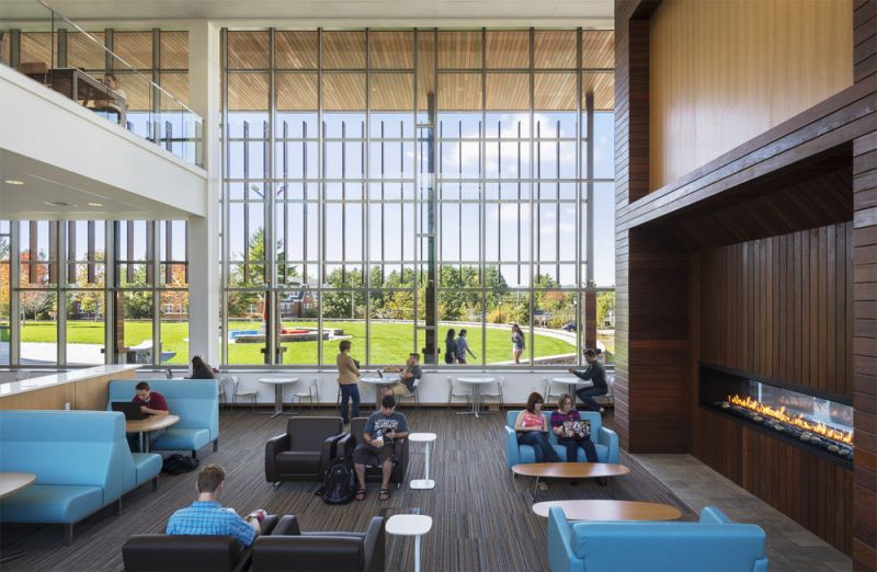 arquitectura_centros educativos perry dean_Edward S. Wolak Library _interior