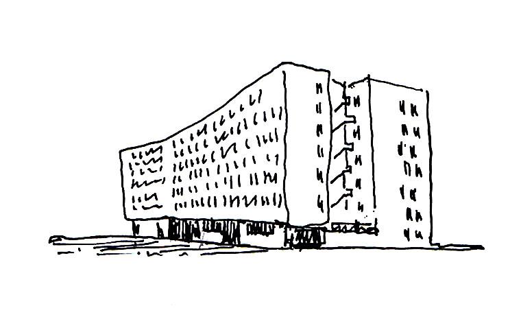 arquitectura Adelfas 98 Ruiz-Larrrea Asociados Entrevistas Arquitectura y Empresa boceto
