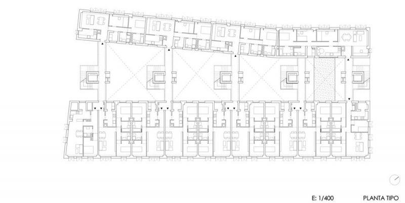 arquitectura Adelfas 98 Ruiz-Larrrea Asociados Entrevistas Arquitectura y Empresa planta tipo