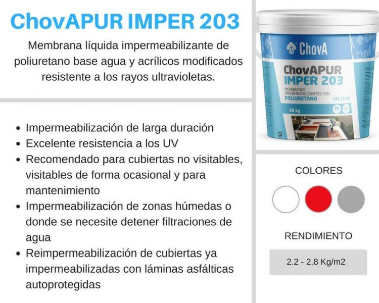 chova sistemas de impermeabilización líquida chovapur imper 203