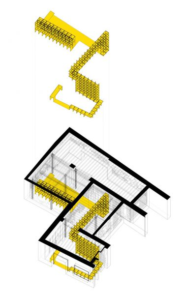 arquitectura ciclo de entrevistas de arquitectura y empresa CUAC arquitectura san jeronimo 17 axonometria extrusion