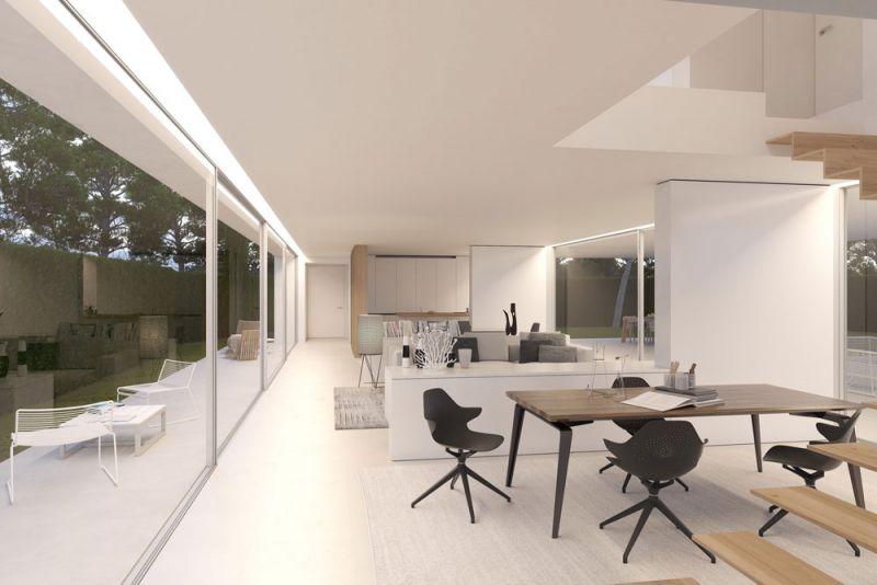 arquitectura ciclo de entrevistas exlusivas arquitectura y empresa gallardo llopis arquitectos casa RDF La casa y los vértices imagen comedor cocina office