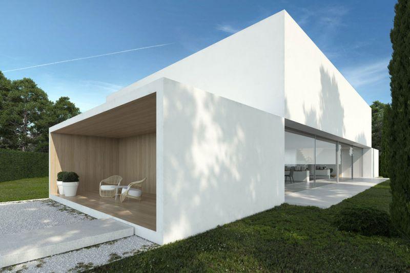 arquitectura ciclo de entrevistas exlusivas arquitectura y empresa gallardo llopis arquitectos casa RDF La casa y los vértices imagen patio trasero