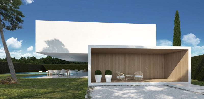 arquitectura ciclo de entrevistas exlusivas arquitectura y empresa gallardo llopis arquitectos casa RDF La casa y los vértices imagenterraza exterior