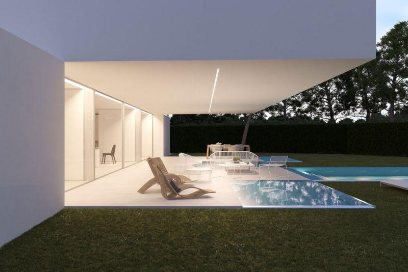 arquitectura ciclo de entrevistas exlusivas arquitectura y empresa gallardo llopis arquitectos casa RDF La casa y los vértices imagen terraza cubierta voladizo