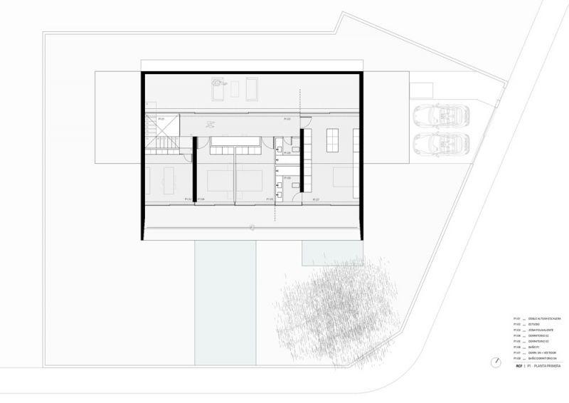 arquitectura ciclo de entrevistas exlusivas arquitectura y empresa gallardo llopis arquitectos casa RDF La casa y los vértices planta primera
