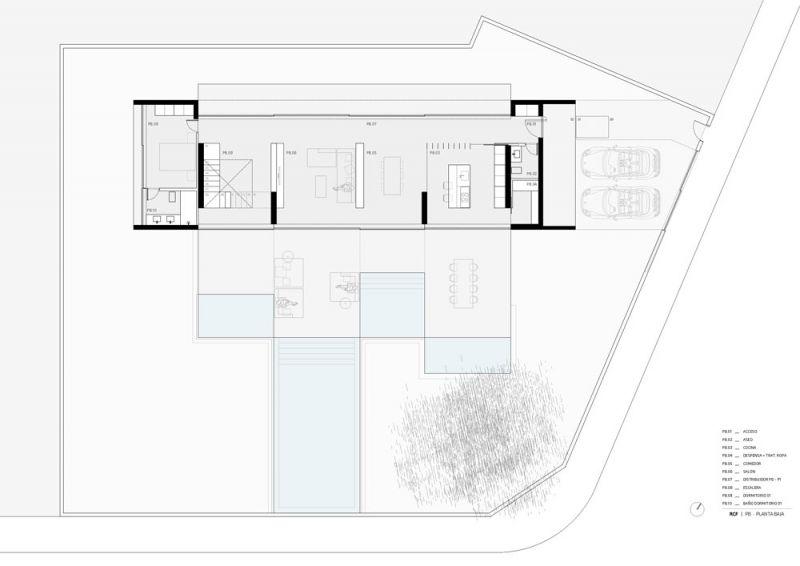 arquitectura ciclo de entrevistas exlusivas arquitectura y empresa gallardo llopis arquitectos casa RDF La casa y los vértices planta baja
