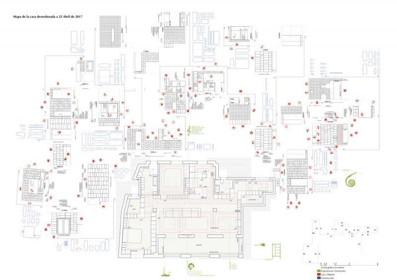 arquitectura serrano + baquero la casa desordenada esquema
