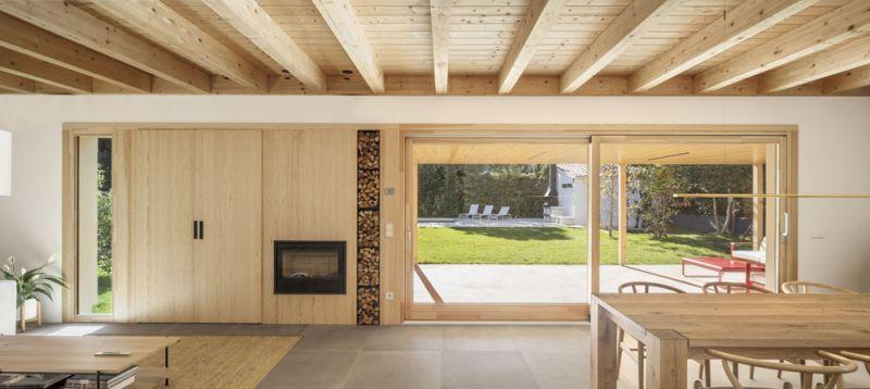 arquitectura alventosa morell arquitectes casa noa fotografia salon chimenea