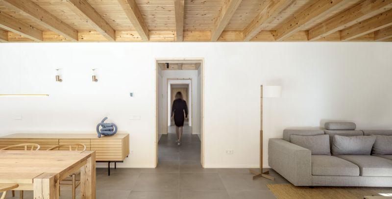arquitectura alventosa morell arquitectes casa noa fotografia interior pasillo