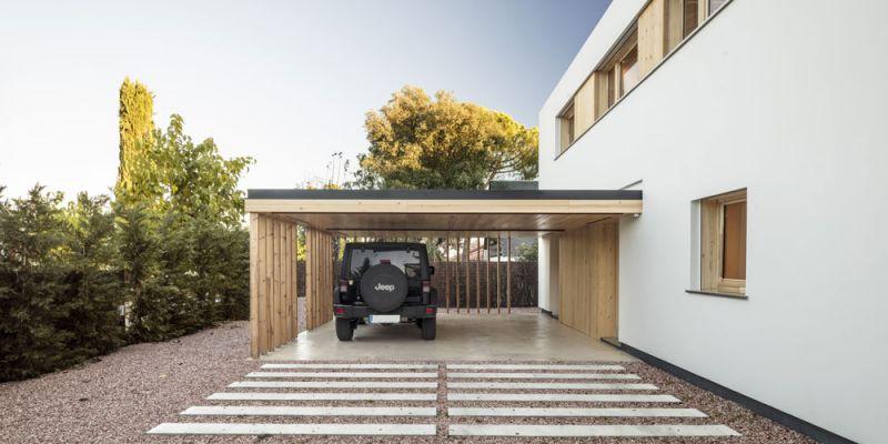 arquitectura alventosa morell arquitectes casa noa fotografia exterior aparecamiento