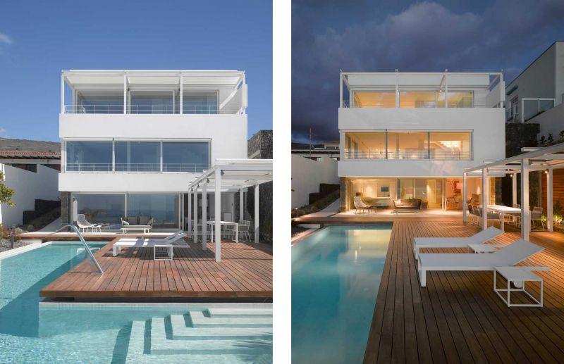 Corona amaral arquitectura ciclo de entrevistas arquitecturayempresa villa playa de la arena foto fachada principal