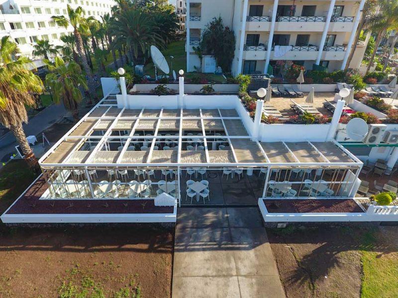 arquitectura equipo olivares corner bar vista exterior aerea