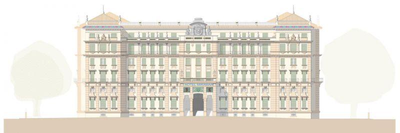 arquitectura estudio segui gran hotel miramar alzado principal