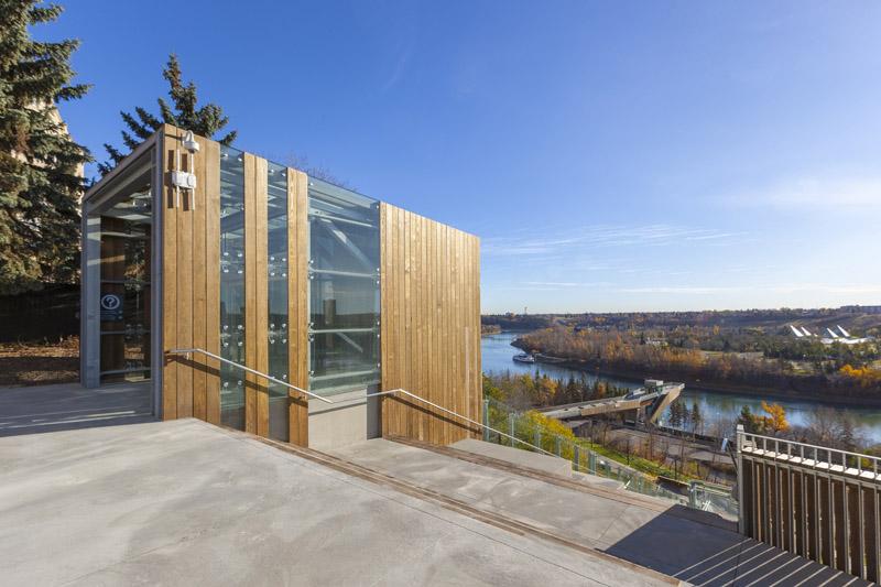 arquitectura_Clear-Edmonton_1 Funicular_imagen de acceso a funicular