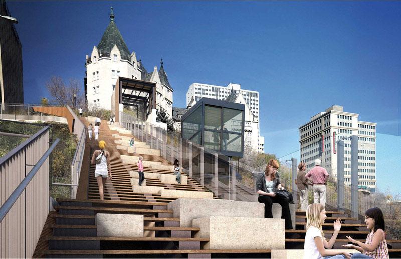 arquitectura_Clear-Edmonton_1Funicular_ vista infografia