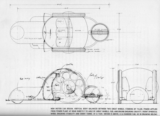 arquitectura coches diseñados por arquitectos frank lloy wright road machine