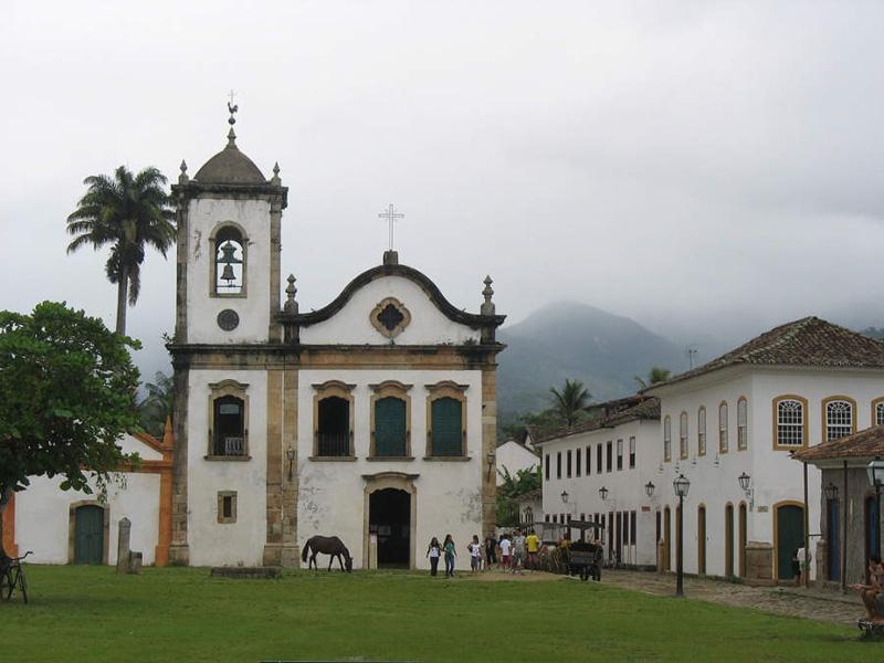 Arquitectura colonial_Paraty_Brasil_Iglesia de Santa Rita