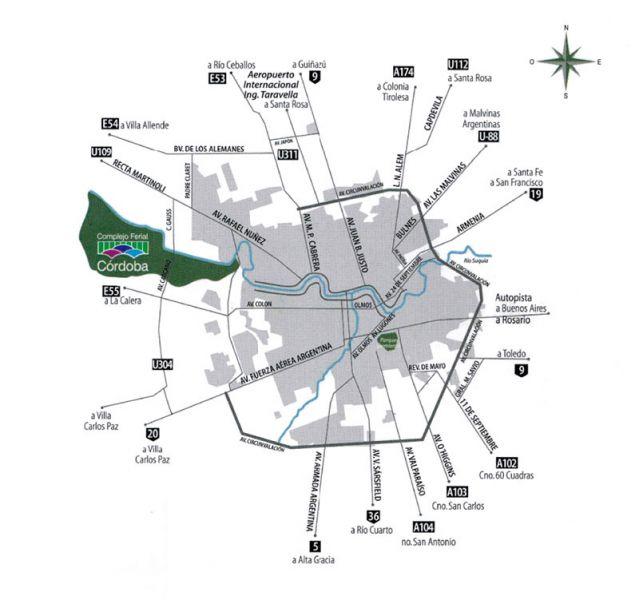 Arquitectura_Conjunto ferial Cordoba_plano accesos