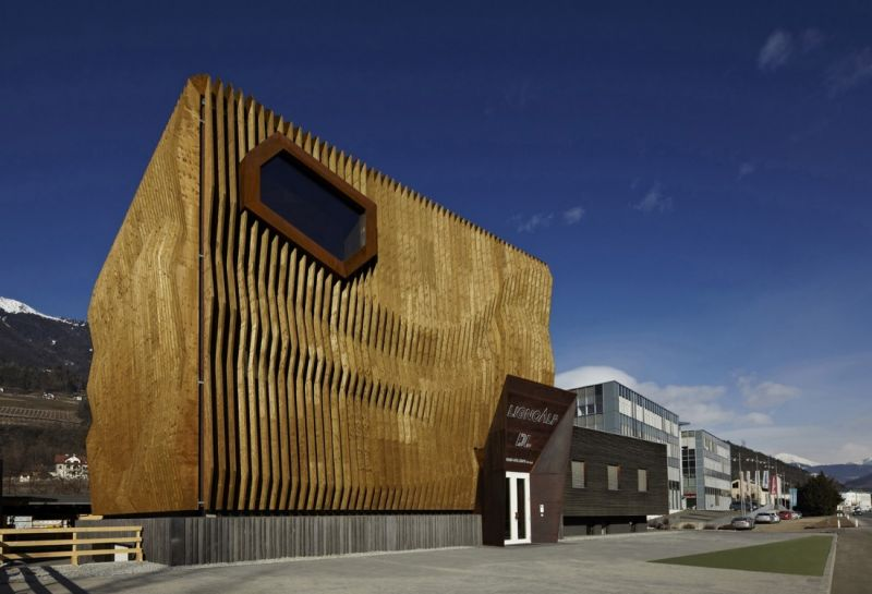 arquitectura con madera CLT_LignoAlp office building