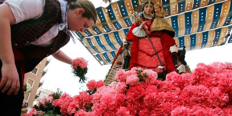 Concurso La falla de las flores ofrenda