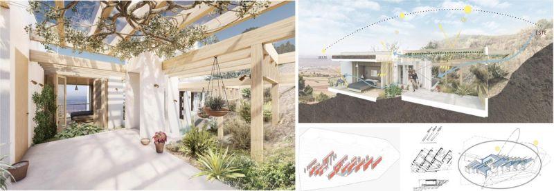 arquitectura concursos de viviendas casa ecologica de paja renders
