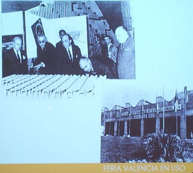 arquitectura imagen de maqueta y acceso a feria 1968