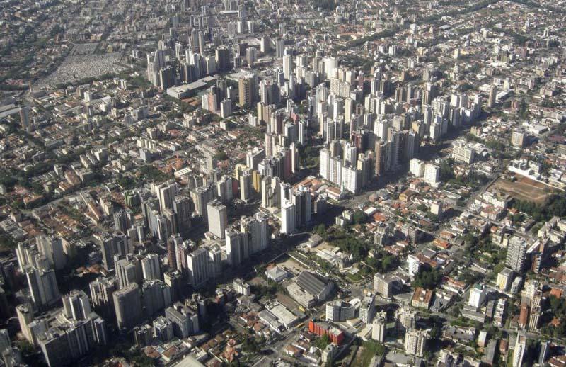 Vista aérea de Curitiba