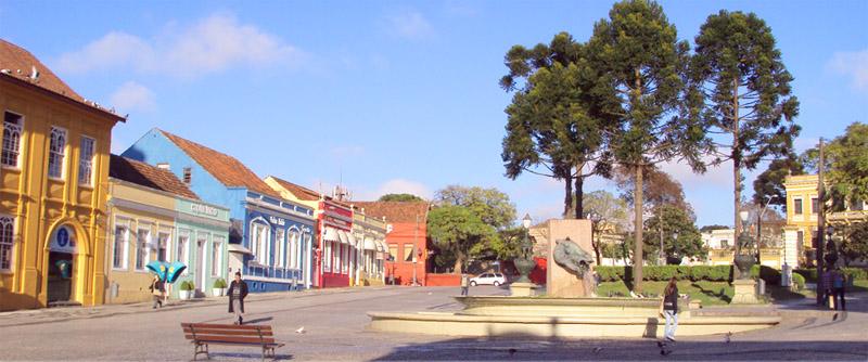 Vista del centro histórico de Curitiba
