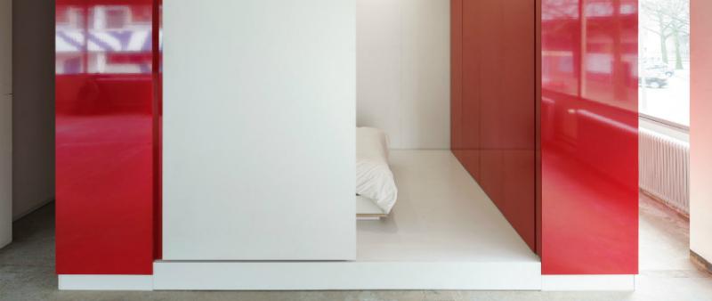 arquitectura, arquitecto, diseño, design, interiores, interior, interiorismo,  Kraaijvanger, architekten, Países Bajos, Holanda, módulos, modular, cubo, vivienda, refugiados, De Hub