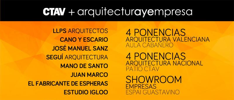 cartel dialogos arquitectura y empresa valencia a