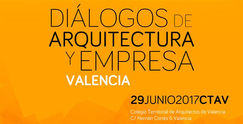 cartel dialogos arquitectura y empresa valencia b