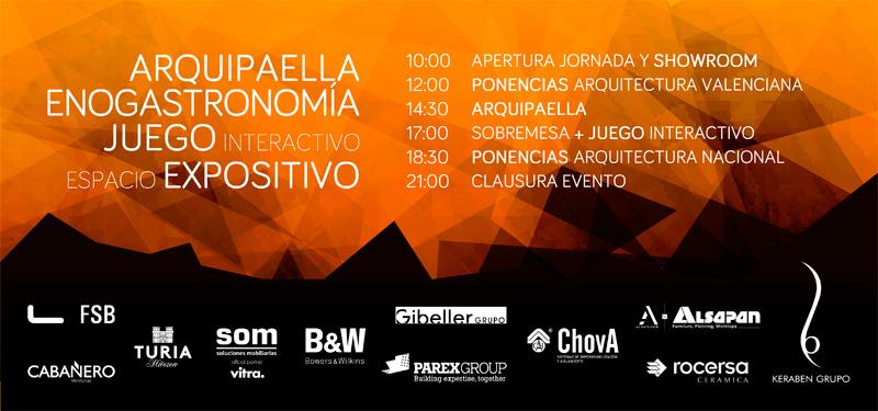 cartel dialogos arquitectura y empresa valenciac