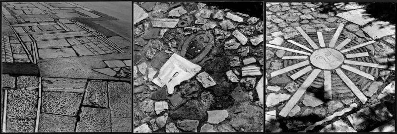 Detalle del pavimento del camino hacia Filopapos. Imágenes: Benaki Museum