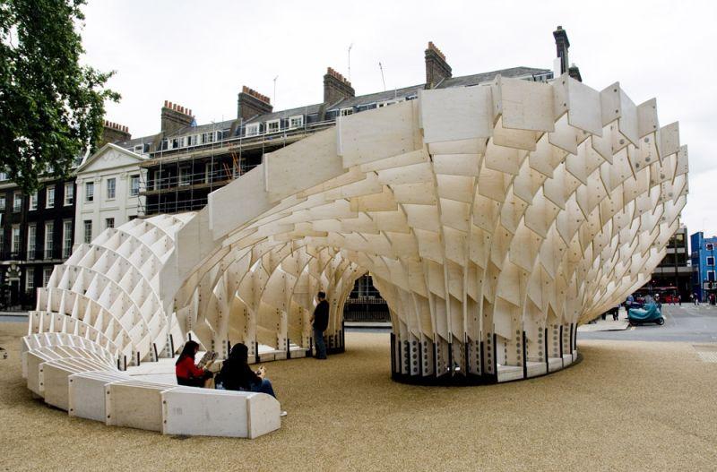 arquitectura_diseño en madera_Swoosh pavilion
