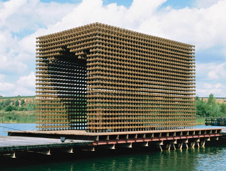 arquitectura_diseño en madera_ Tea pavilion Moscú