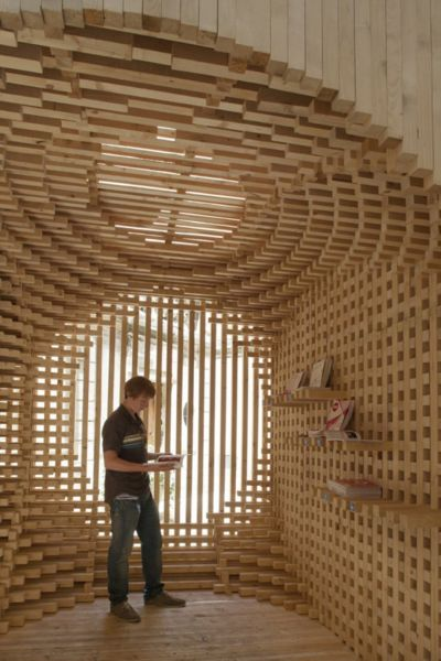 arquitectura_diseño en madera_ Welcome pavilion