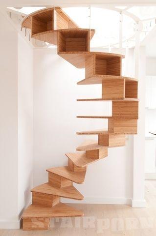 arquitectura_diseño_escaleras de madera_box spiral staircase