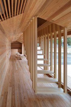 arquitectura_diseño_escaleras de madera_Yoshino Cedar House
