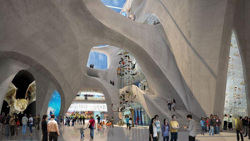 arquitectura Centro Richard Gilder para Ciencia, Educación e Innovación  Manhattan, Nueva York, Estados Unidos Studio Gang interior pasarelas