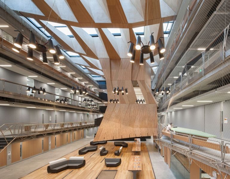 arquitectura Universidad de Melbourne  Melbourne, Australia John Wardle Architects & NADAAA interior hall