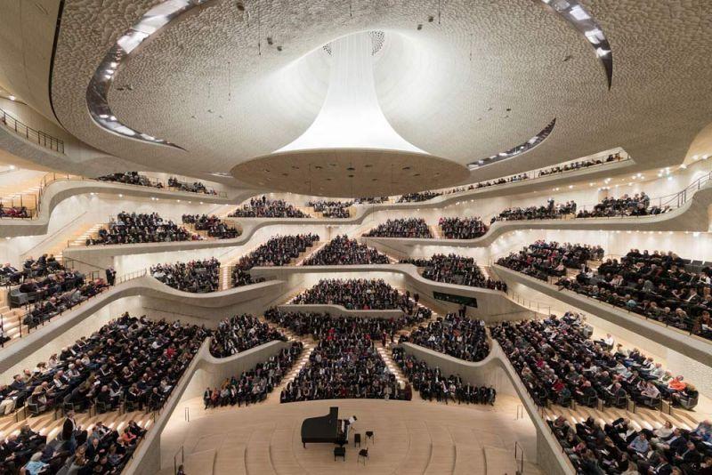 Elfphilharmonie  Hamburgo, Alemania Herzog & de Meuron sala interior