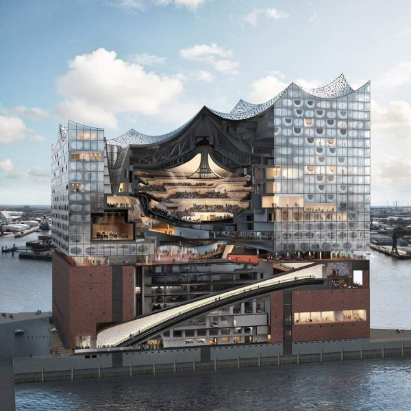 Elfphilharmonie  Hamburgo, Alemania Herzog & de Meuron seccion