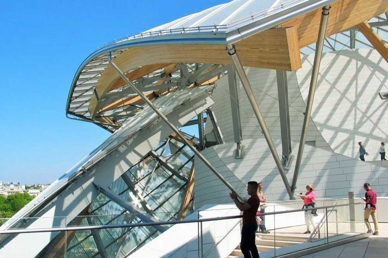 arquitectura Fundación Louis Vuitton  París, Francia Gehry Partners cubierta