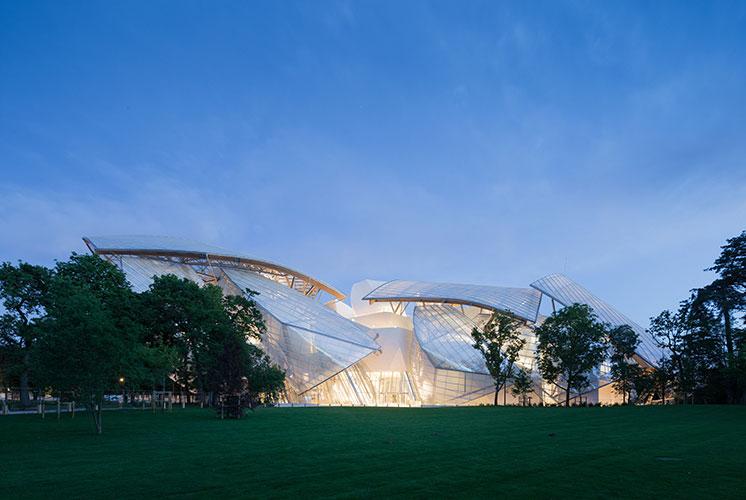 arquitectura Fundación Louis Vuitton  París, Francia Gehry Partners exterior
