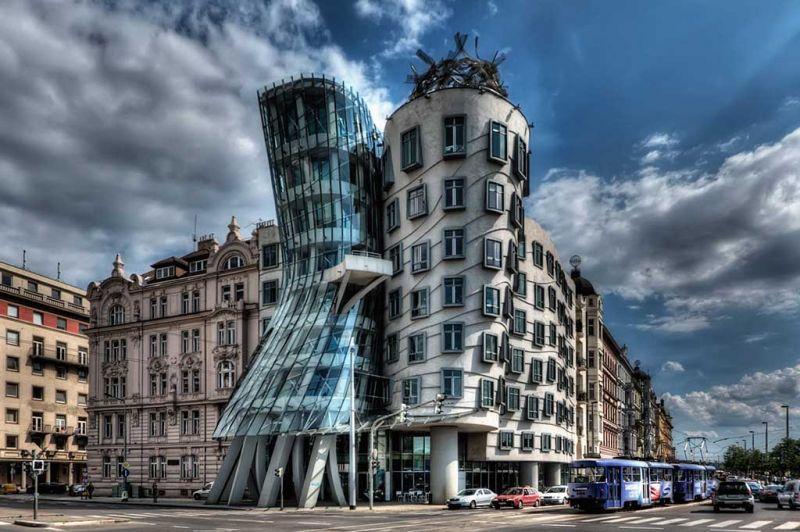 arquitectura exclusiva la Casa Danzante de Praga