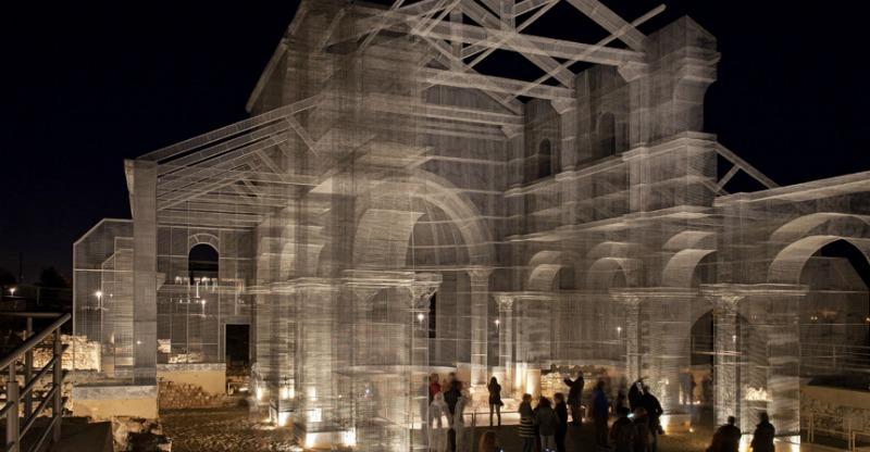 arquitectura, arquitecto, diseño, diseñador, design, arte, artista, Edoardo Tresoldi, Siponto, Italia, rehabilitación, reconstrucción, metal, alambre, obra de arte