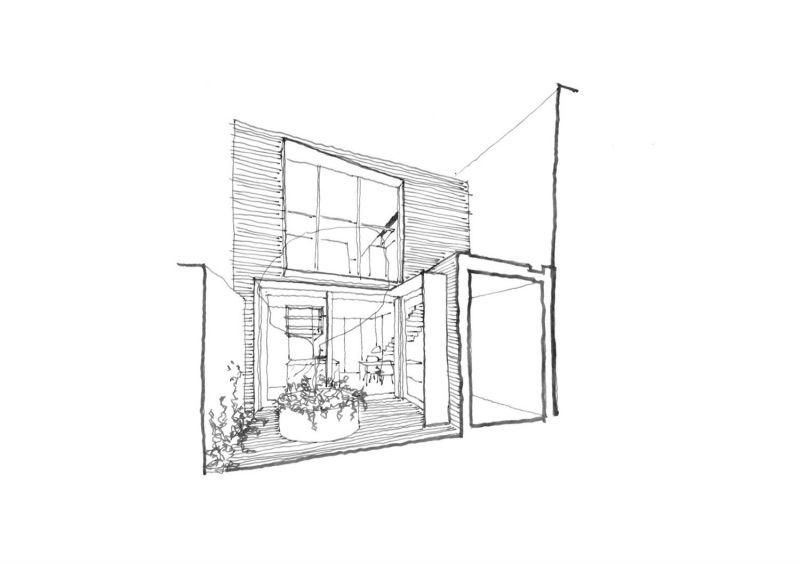 arquitectura_ELGINSTRESIDENCE_patio dibujo