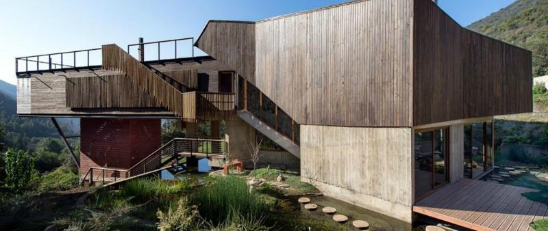 arquitectura, arquitecto, diseño, design, interiorismo, sostenible, sostenibilidad, ecología, ecológico, natural, reserva natural, El Macs Brook, Santiago de Chile, Casa El Maqui, GITC, Chile